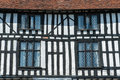 Tudor house timber framed facade stratford england Royalty Free Stock Image