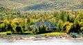 Tudor Mansion on Green Coast of Maine Royalty Free Stock Photo