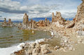 Tufa in mono lake ca eastern california near nevada border Royalty Free Stock Photos