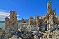 Tufa spires rising out of mono lake california usa Royalty Free Stock Photos