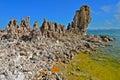 Tufa spires rising out of mono lake california usa Royalty Free Stock Image