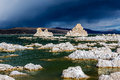 Tufa towers in mono lake california state natural reserve usa Royalty Free Stock Photo