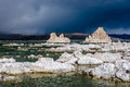 Tufa towers in mono lake california state natural reserve usa Royalty Free Stock Photos