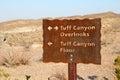 Tuff Canyon Sign Royalty Free Stock Photo