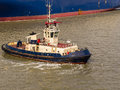 Tug Boat on River Thames Royalty Free Stock Photo