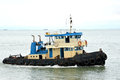 Tug boat on the ocean Stock Images