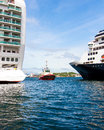 Tug boat and ships Royalty Free Stock Photo