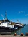 Tug boats docked en san francisco Fotografía de archivo