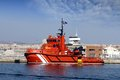 Tug docked rescue in the port of alicante Royalty Free Stock Images