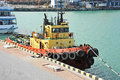 Tugboat in harbor Royalty Free Stock Photo