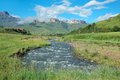 Tugela river and mountains south africa with the drakensberg beyond kwazulu natal Royalty Free Stock Photography