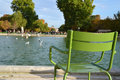 Tuileries gardens in paris landscape of the Royalty Free Stock Photography