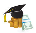 Tuition fee education costs concept illustration design over white Royalty Free Stock Image