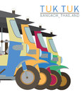 Tuk Tuk in Bangkok of Thailand