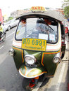 Tuk tuk moto taxi on the street in the wat suthat area bangkok january january bangkok famous bangkok called Stock Photo