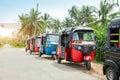 Tuktuk taxi on road of Sri Lanka Ceylon travel car Royalty Free Stock Photo