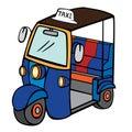 Tuktuk (Thailand Taxi) Royalty Free Stock Photo