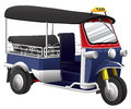 Tuktuk is vehicle of thailand Royalty Free Stock Images