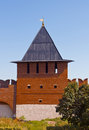 Tula kremlin tower of ivanov gates of town fortress of town russia Royalty Free Stock Image
