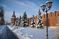 Tula Kremlin in winter. Royalty Free Stock Photo