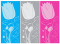 Tulip Banners Royalty Free Stock Images