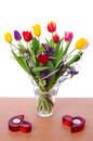 Tulip bouquet composition Royalty Free Stock Photography