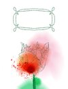 Tulip flower on watercolor background Stock Photos