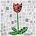 Tulip mosaic of in screen Royalty Free Stock Images