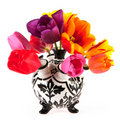 Tulip vase Royalty Free Stock Photography