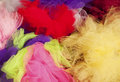 Tulle pile of colorful fabric Stock Photo