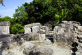 Tulum ancient maya city ruins of yucatan mexico Stock Photos