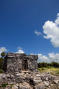 Tulum ancient maya city ruins of yucatan mexico Royalty Free Stock Photo