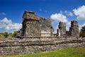 Tulum ancient maya city ruins of yucatan mexico Royalty Free Stock Photo