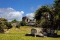 Tulum ancient maya city ruins of yucatan mexico Royalty Free Stock Photography