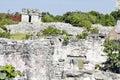 Tulum archeological site yucatan mexico Stock Photos