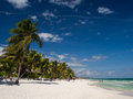 Tulum beach in mexico on sunny day Stock Photo