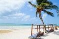Tulum beach, Yucatan, Mexico Royalty Free Stock Photo