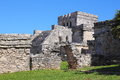 Tulum ix archaeological site of located in the mexican state of quintana roo Royalty Free Stock Image