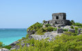 Tulum in mexico maya ruine Stock Photography