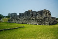 Tulum ruins on the riviera maya area of mexico Royalty Free Stock Photo