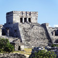 Tulum ruins square Royalty Free Stock Images