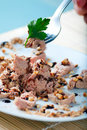 Tuna and Almonds with Vinegar Glaze Stock Photo