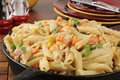 Tuna caserole casserole in a cast iron skillet Royalty Free Stock Image