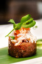 Tuna and crab meat dish tartar Stock Photos