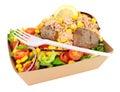 Tuna Fish And Sweetcorn Filled Baked Potato Royalty Free Stock Photo