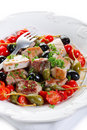 Tuna messinese recipe Royalty Free Stock Photo