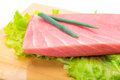 Tuna raw steak Royalty Free Stock Photo