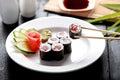 Tuna roll sushi Royalty Free Stock Photo