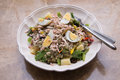 Tuna Salad with boiledegg Royalty Free Stock Photo