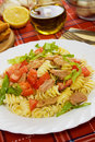 Tuna salad with lettuce and tomato Stock Image